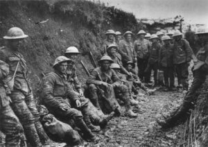 Imagem do Exercítio Britânico no primeiro dia da Batalha do Somme (I Guerra Mundial)