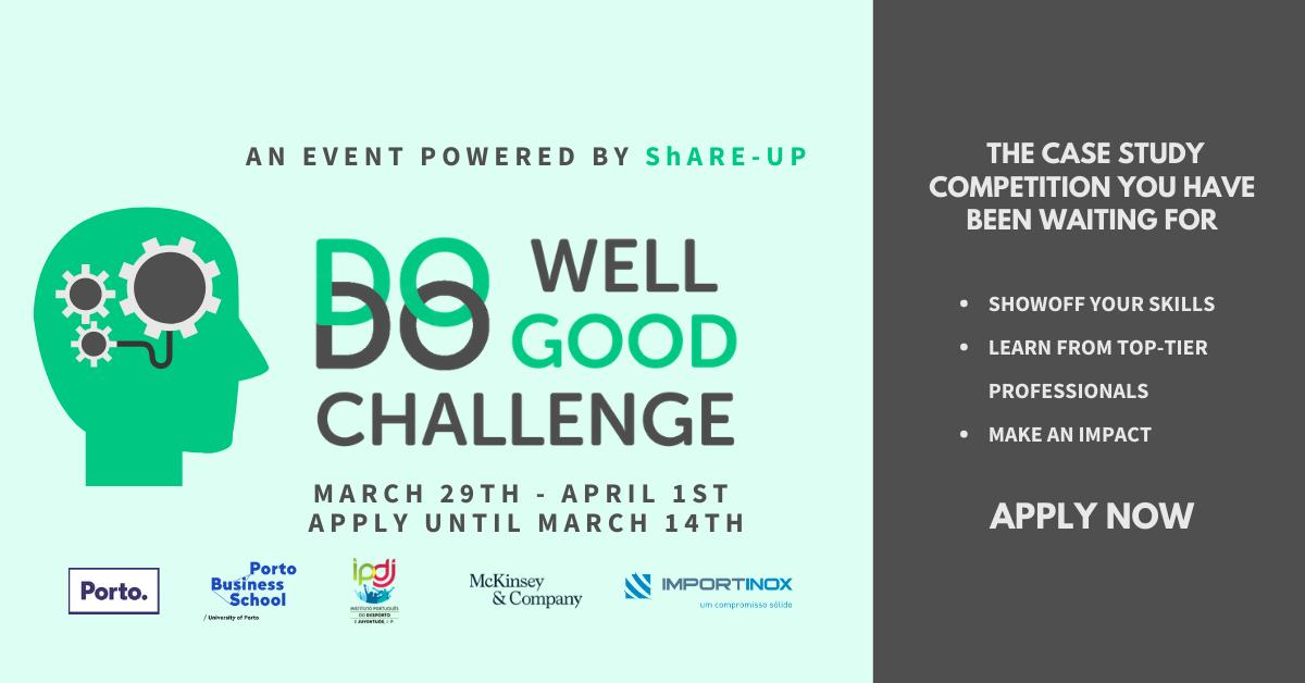 O Do Well Do Good Challenge é lançado pela ShARE-UP.