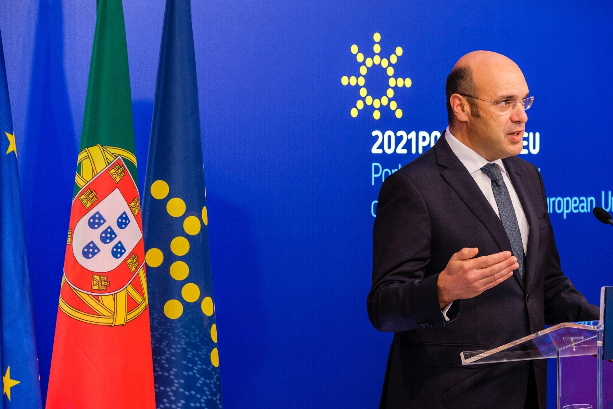 O ministro de Estado, da Economia e da Transição Digital de Portugal