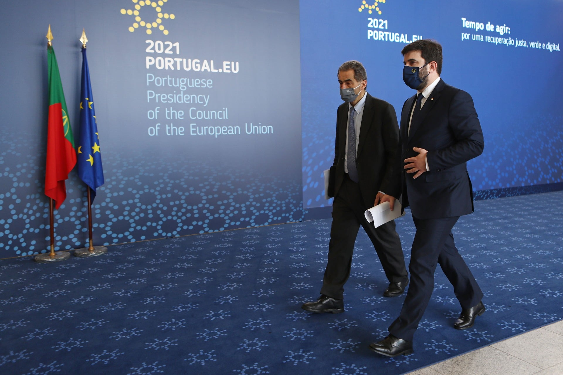 Os ministros de Portugal da Ciência, Tecnologia e Ensino Superior, e da Educação