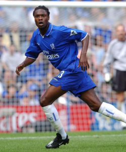 William Gallas no ano de estreia pelos blues.