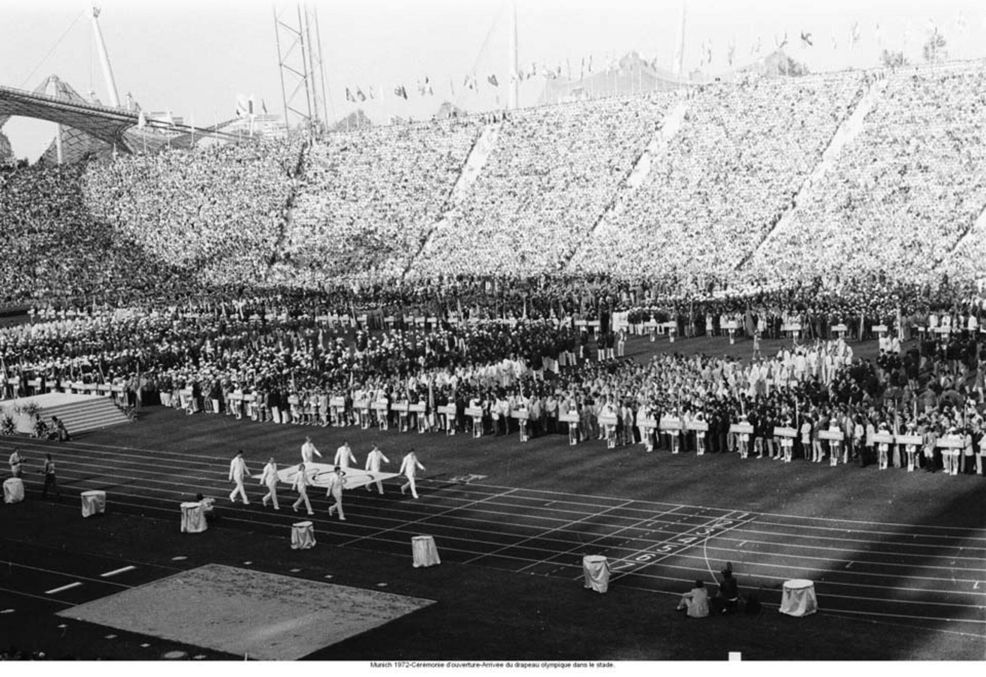 Cerimónia de abertura dos Jogos Olímpicos de Munique, em 1972