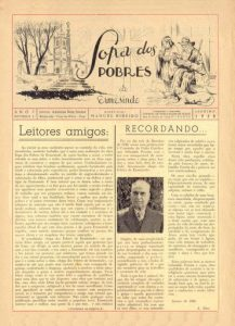 """Primeira publicação da """"Sopa dos Pobres"""", em 1958. Periódico designa-se, atualmente, A Voz de Ermesinde."""