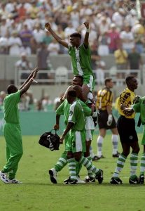 Seleção de Futebol da Nigéria conquistou o primeiro ouro para África numa modalidade coletiva masculina.