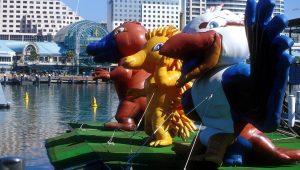 Os Jogos Olímpicos de Sydney tiveram, pela primeira vez, três mascotes: o Syd, a Millie e o Olly.