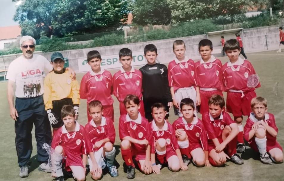 No SC Salgueiros, André Silva, jogou sempre no escalão acima.