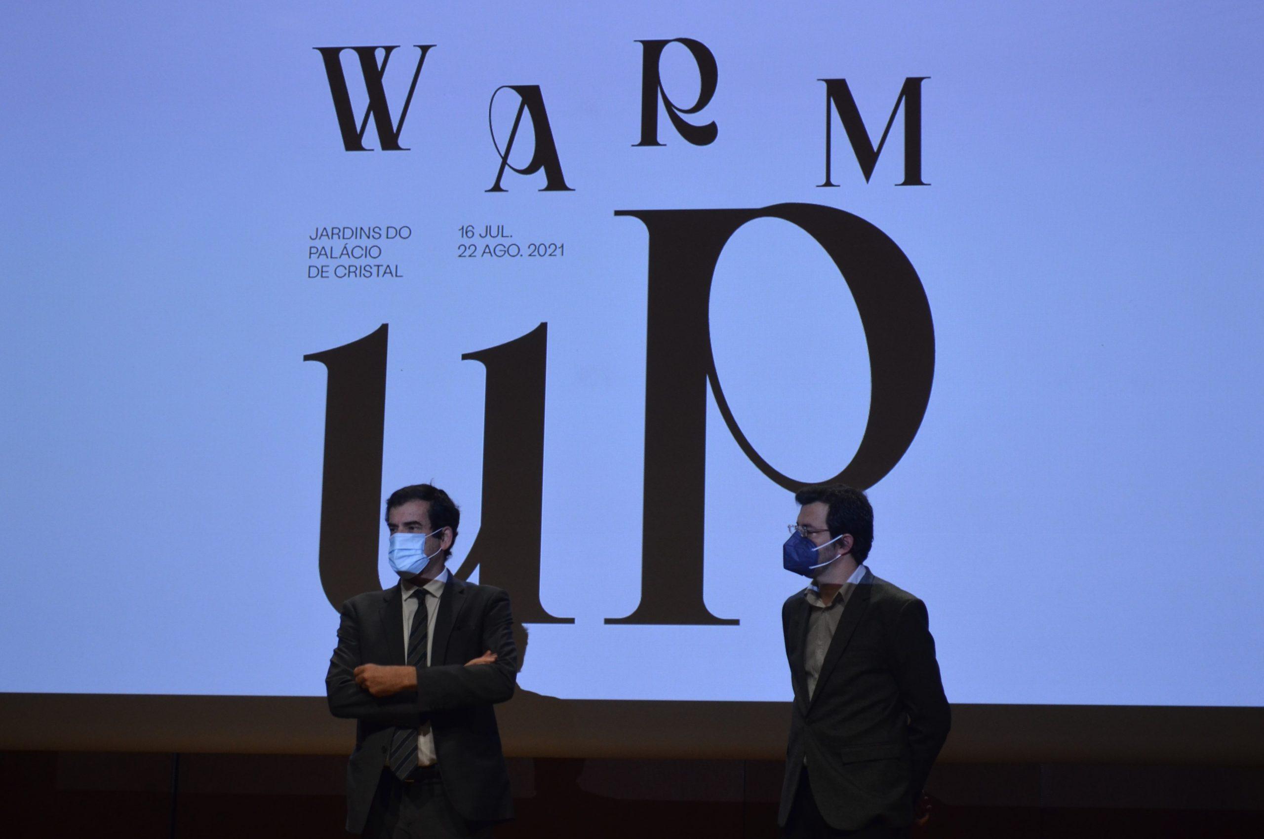 Rui Moreira e Nuno Farias na apresentação do WARM UP.