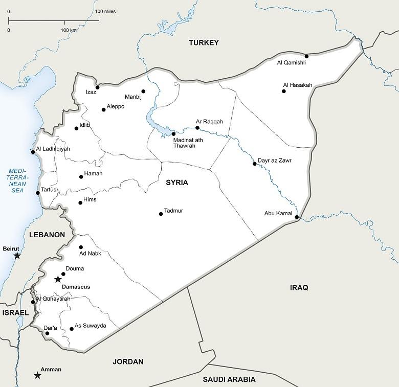 Mapa Síria